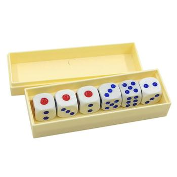 Six Die Tapping Loaded Dice Roll Prediction Number Box Game Magic Trick Kids Toy image