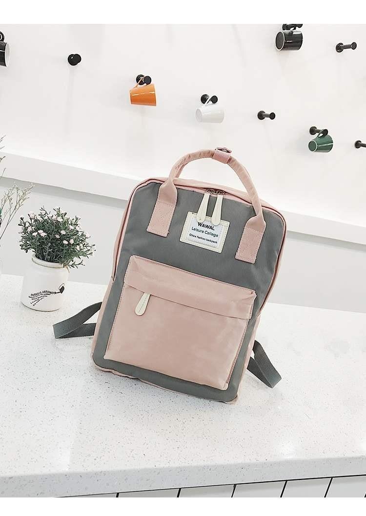 2020 New Fashion Lady Student Canvas Shoulder Bag Schoolbag Bag Tour Backpack Bookbag  Backpack Women  Small Pink Cute Kawaii