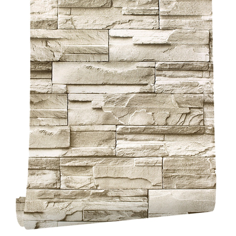 6M Vinyl 3D Brick Rock Sticker Paper Self Adhesive Wallpaper Furniture Wall Stickers