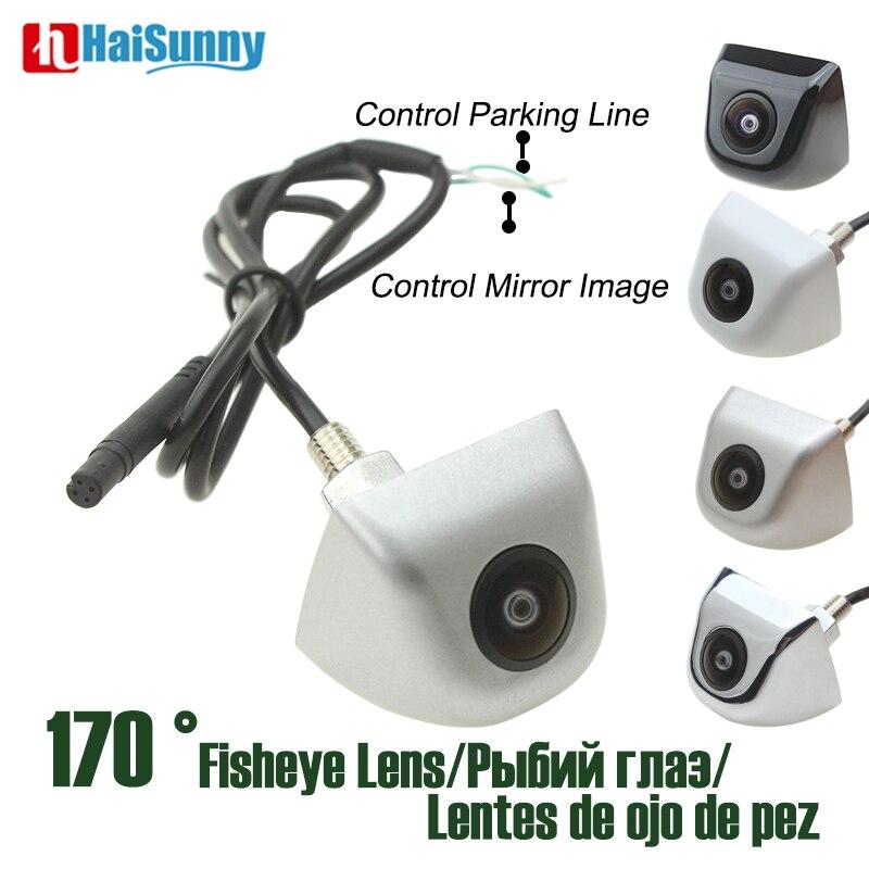 HD CCD Starlight Night Vision Fish Eye Lens 170 Degree Sony CCTV Color White Sliver Car Backup Rear View Camera No Parking Line