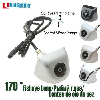 HD CCD Starlight Night Vision Fish eye Lens 170 Degree Sony CCTV Color White Sliver Car Backup Rear View Camera No Parking Line цена 2017