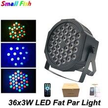 36Pcs LED Par Light 3W RGB Crystal Magic Ball Bulb DMX Stage Light Disco Club Party Light Mini DJ Garden Park Christmas Light