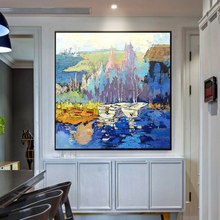 large oil painting handmade Natural Landscape Canvas Painting art wall picture artwork Wall Art Picture for Living Room bedroom