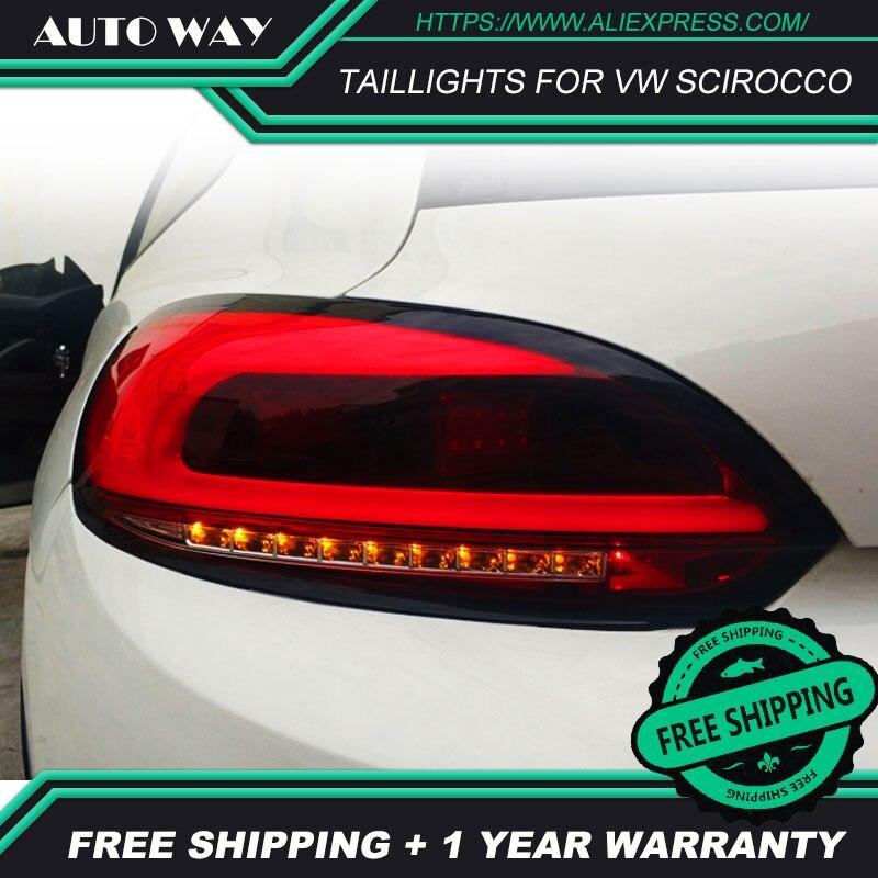 Auto Styling Achterlichten Case Voor Vw Scirocco Achterlichten Scirocco Achterlicht Led Achterlicht Drl Mistlampen Kofferbak Lamp cover - 2