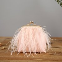 Caker Brand 2019 Women Pink Feather Tassel Day Cluthes Wholesale
