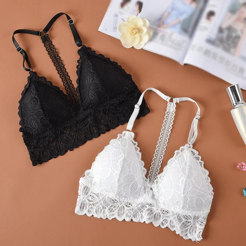 Women White <font><b>Black</b></font> Cozy Lace <font><b>Tube</b></font> <font><b>Top</b></font> <font><b>Sexy</b></font> Brassiere Lace Bra Wrapped Chest Wire Free Crop <font><b>Tops</b></font> image
