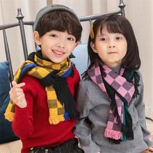 2019 Autumn and Winter Children's Scarf British Plaid High-grade Warm Cashmere Blended Soft Scarf Boys and Girls Fashion Scarf plaid wool blended color blocking square scarf