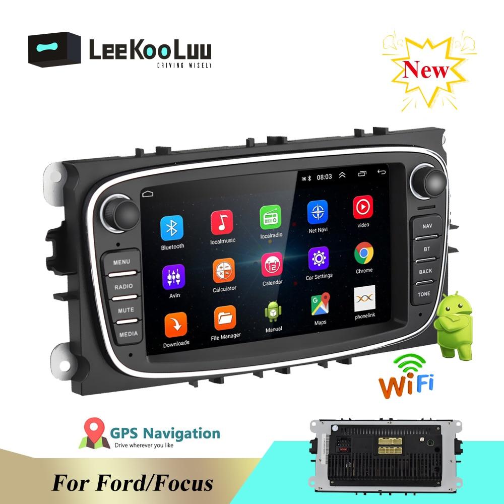 "LeeKooLuu Android 8.1 2 Din Autoradio 7 ""lecteur multimédia GPS WIFI MP5 FM Audio pour Ford Mondeo C-MAX S-MAX Galaxy II"