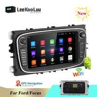 LeeKooLuu Android 8.1 2 Din Car Radio 7 Autoradio Multimedia Player GPS WIFI MP5 FM Audio For Ford Mondeo C MAX S MAX Galaxy II