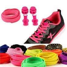 1 Pair Elastic Shoelaces No Tie Shoe laces Quick Stretching Locking Flat Shoe lace Kids Adult Leisure Sneakers Quick Lazy laces