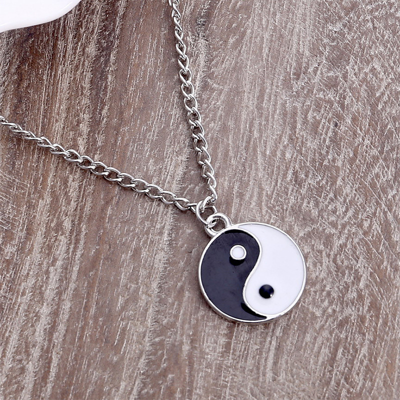 Necklace Women Jewelry Choker Chain Collares Mujer Collier <font><b>Colar</b></font> Bijoux Femme Necklaces Men Accesorios <font><b>Yin</b></font> <font><b>Yang</b></font> Pendant Charms image