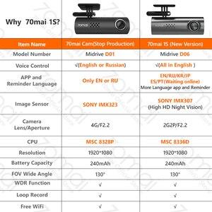 Image 5 - 70mai Auto DVR Dash Cam 1S 1080P Full HD di Visione Notturna Controllo Vocale Registratore di Guida di Registrazione Video Dash macchina fotografica