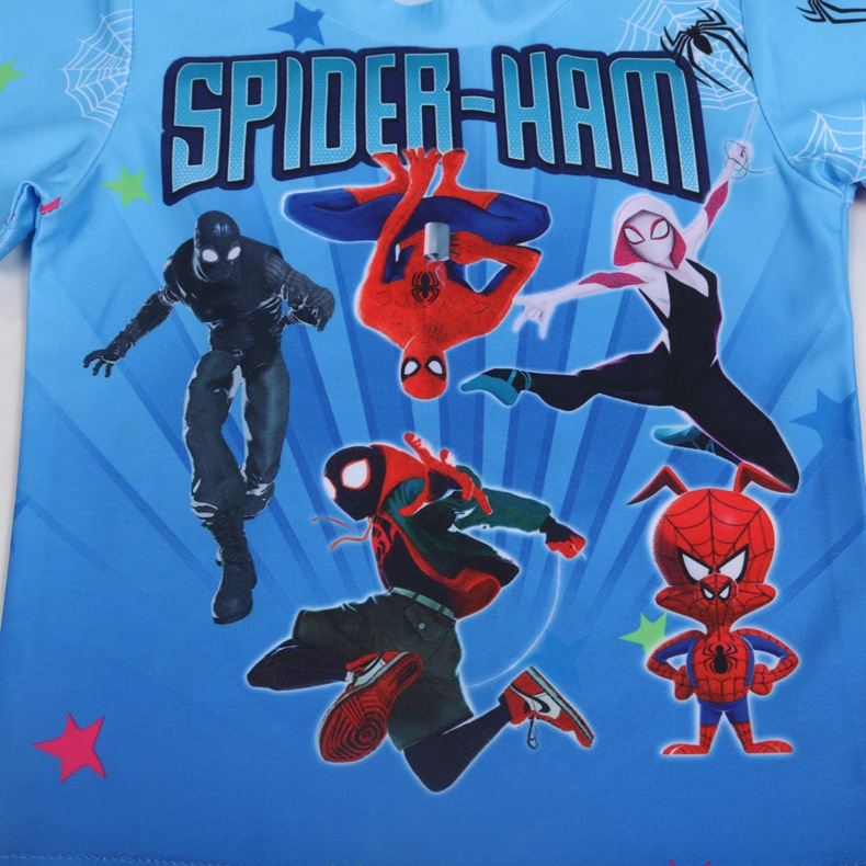2019 New Style Small KID'S Swimwear Male Baby Spider Pigskin Man Tattoo Split Type Cosplay Hot Springs Bathing Suit 2334