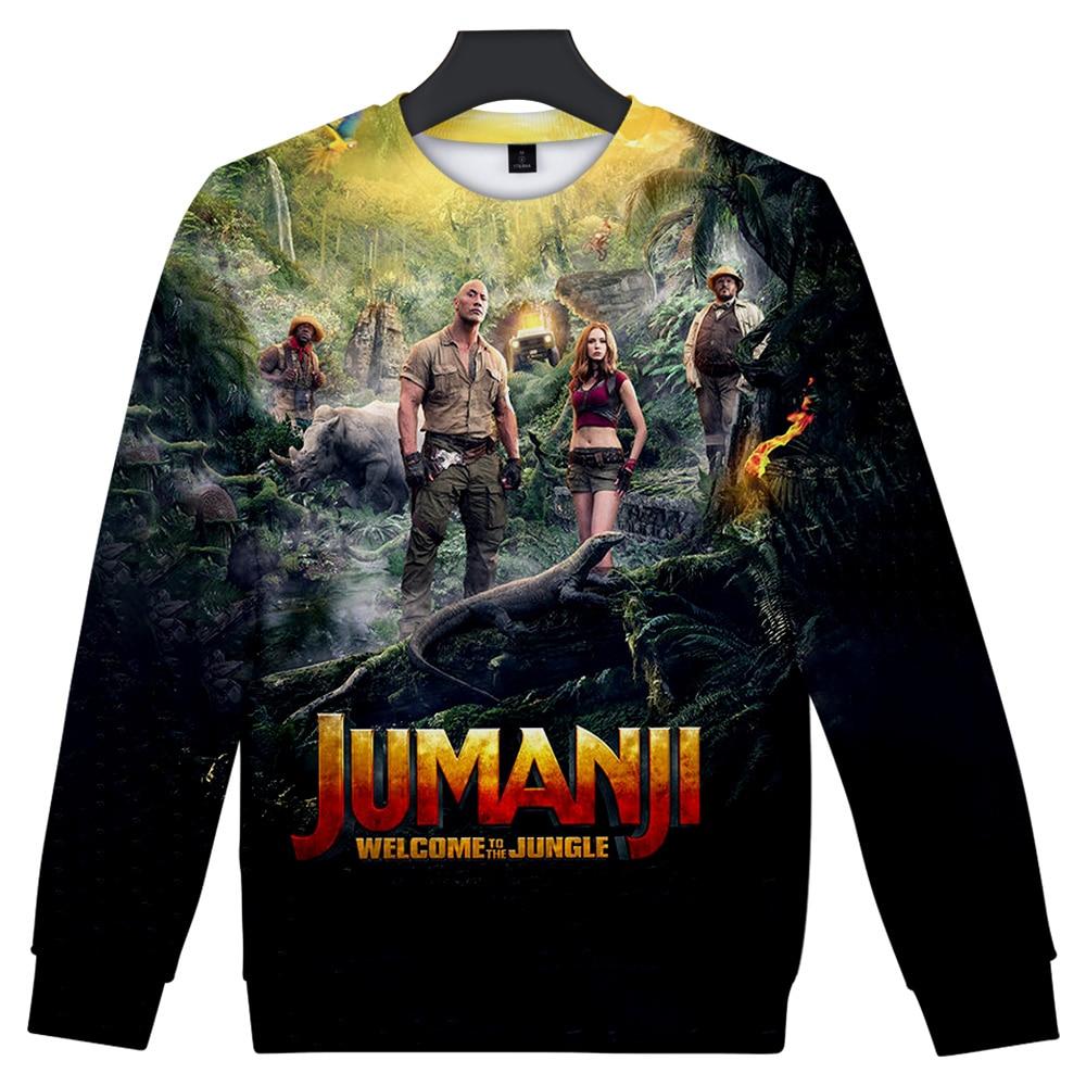 2019 Streetwear Jumanji Hoodies O-Neck Long Sleeves Cotton Harajuku Jumanji Sweatshirt Hoody For Men Streetwear Plus Size