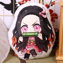 Almohada japonesa de Anime Cosplay de demonio Slayer, Kimetsu no Yaiba, Kamado, Nezuko, almohada de muñeca de peluche, cojín de peluche, regalo