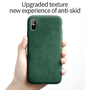 Image 3 - SanCore for iPhone X XS Max Phone Case artificial Leather Full protection ALCANTARA Business  Phone Shell Suede Back Cover  bag