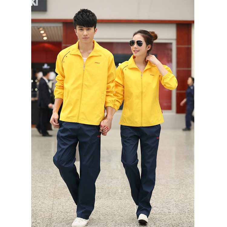 Spring New Style Sports Set Long Sleeve Fold-down Collar Two-Piece Autumn Fashion For Men And Women Running Casual Couple Clothe