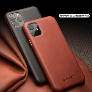 For Apple iphone 11 Pro Max Luxury retro Genuine Leather metal buttons Fhx-22r case For iPhone 7 8 Plus X XR XS MAX phone case(China)