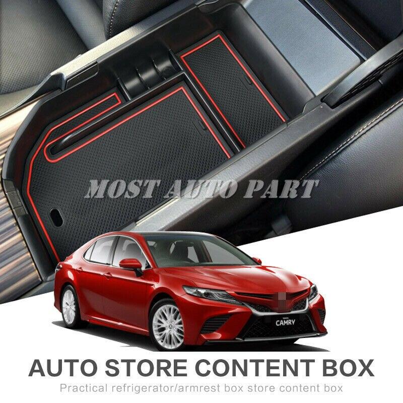 Пластиковый внутренний подлокотник центральной консоли, контейнер для хранения для Toyota Camry 2018-2019 1 шт. LHD, украшение автомобиля, отделка авто...