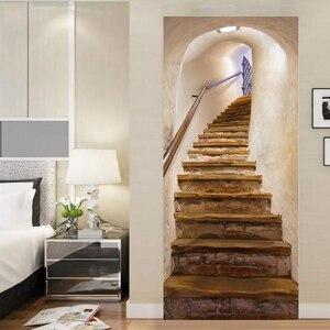 Naklejki na schody 3D Home Decoration symulacja naklejki na drzwi wymienny sypialnia salon DIY renowacja tapety naklejki