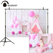 Allenjoy 1st birthday backdrop photography Interior smash cake balloon tent photocall photophone photozone studio backgrounds
