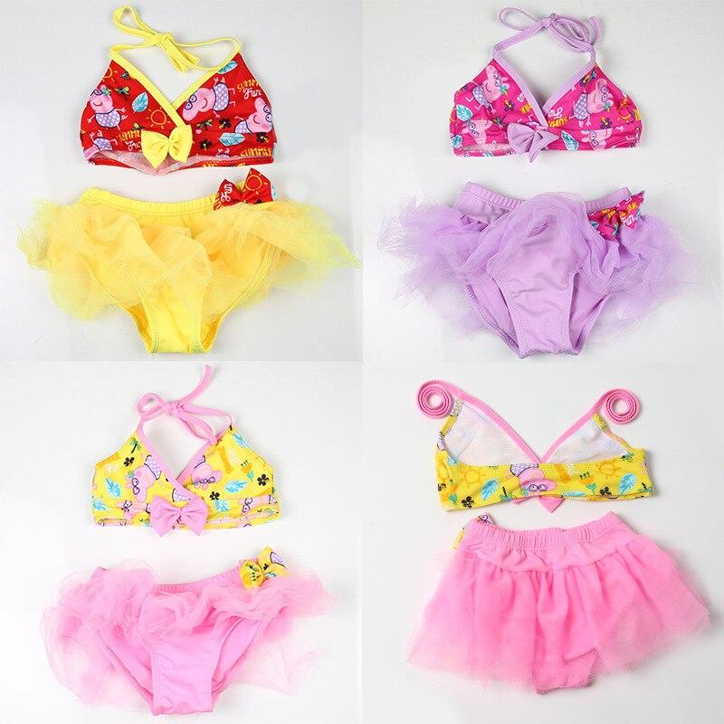 Children Infants Bikini Swimwear GIRL'S Cute Two-Piece Set Children Split Type Swimsuit NT493111