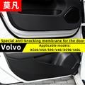 Mofan coche puerta anti-kick pad fibra de carbono interior modificación película decorativa anti-sucio almohadilla para Volvo XC60 /V60/S90/V40/XC90/L