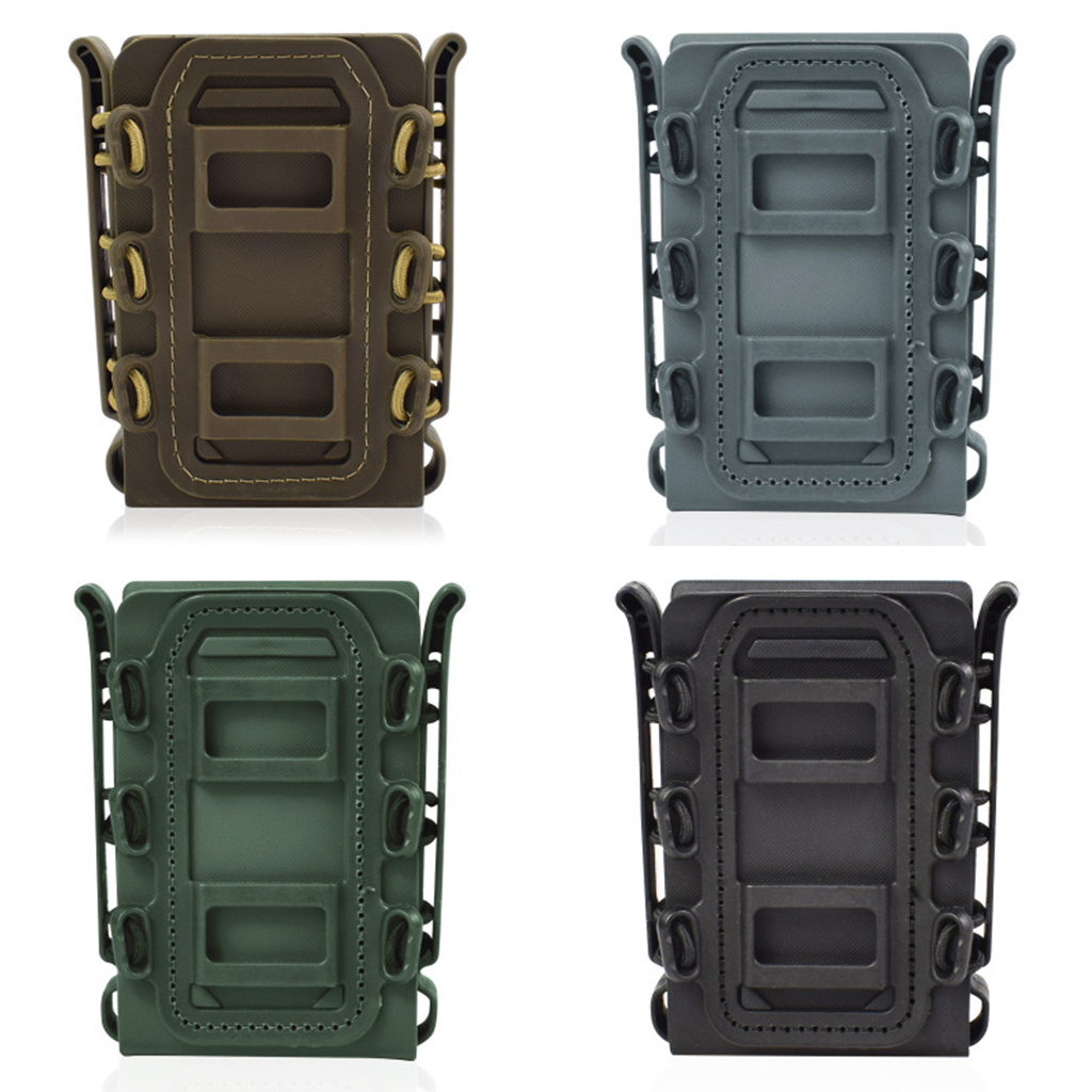 Brand New 3 Pcs TPR Flexible Magazine Pouch Fast Mag Carrier for 5.56/7.62 Molle System Quick Pull Elastic Clip Soft Shell Case
