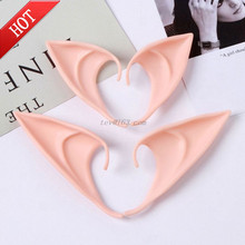 1 Pair Halloween Party Elven Elf Ears Pointed Anime Fairy Cosplay Costumes Vampire Soft Christmas Party Mask Latex Fake Ear