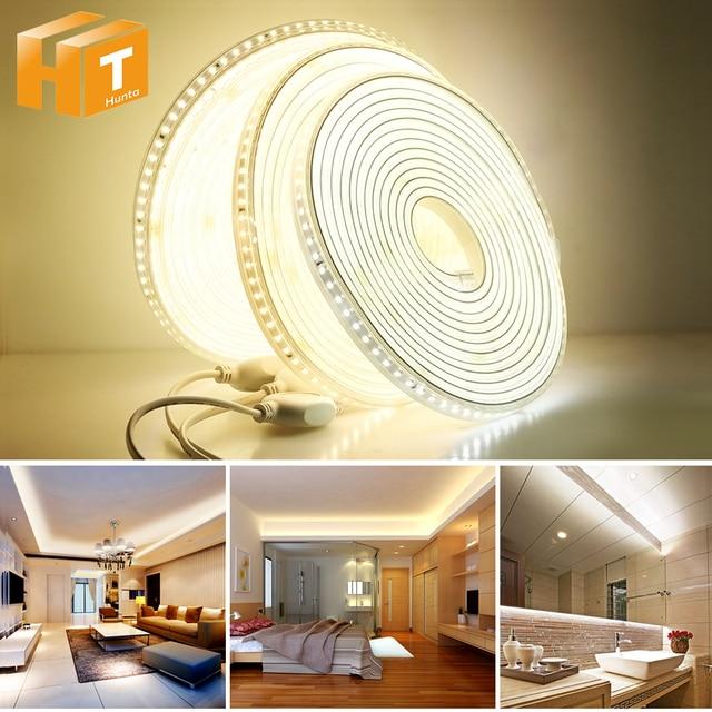 220 فولت LED قطاع 2835 سلامة عالية سطوع عالية 120 المصابيح/م مرنة LED إضاءة خارجية مضادة للماء LED قطاع الخفيفة.