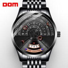 DOM personalidade criativa dos homens relógio mecânico relógio dos homens relógio mecânico relógio dos homens de luxo em aço inoxidável M-1335