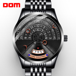 DOM creative personality men's watch mechanical watch men's mechanical watch luxury men's watch stainless steel M-1335