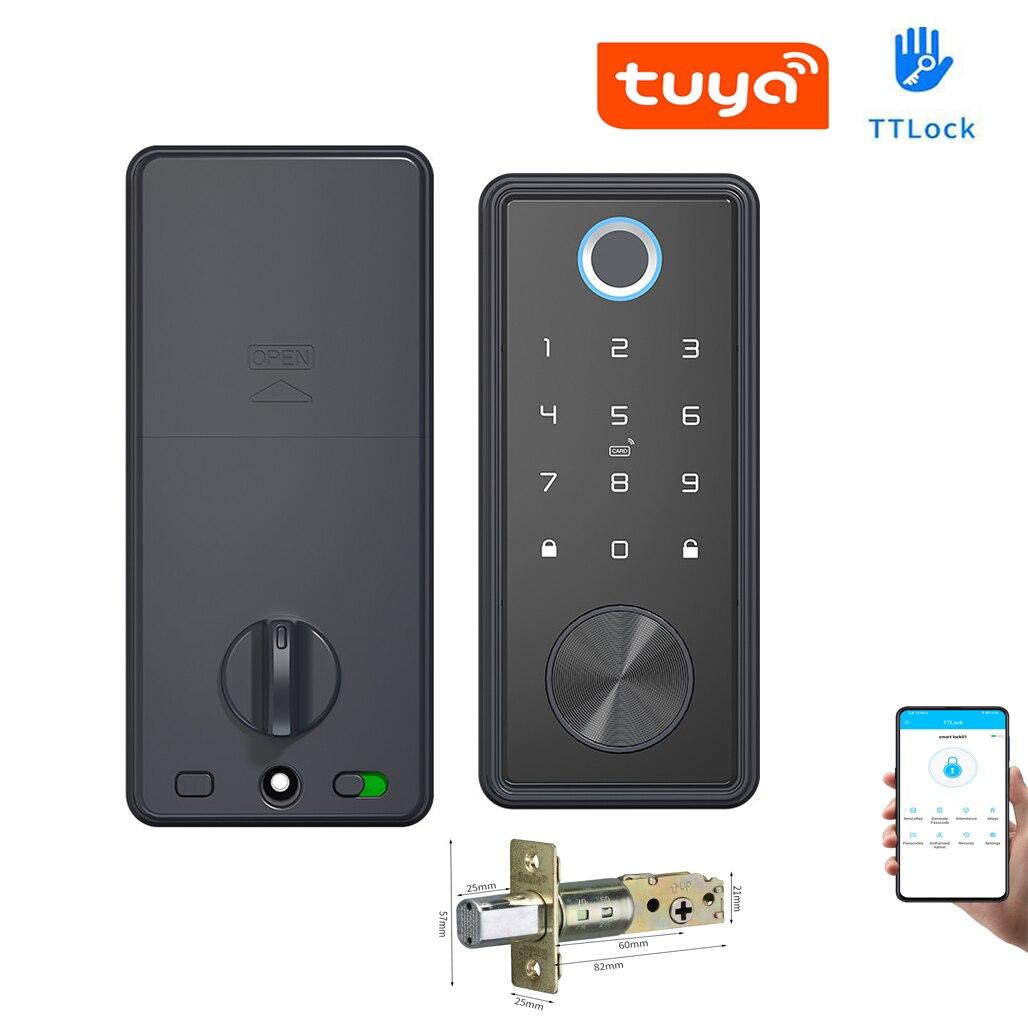 TTLock Or Tuya APP Smart Remote Control Fingerprint Biometrics Password Card Code...