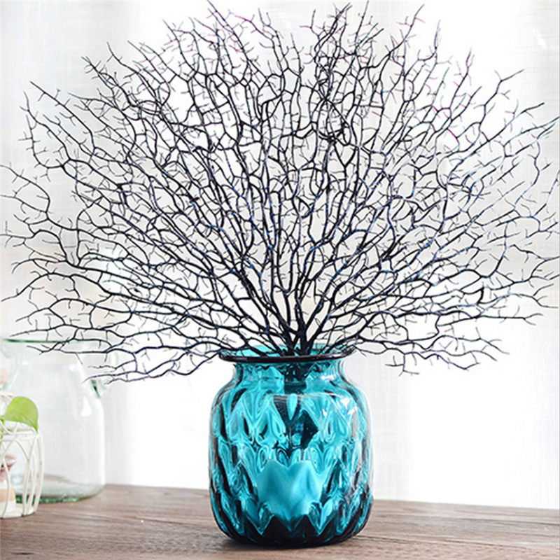 Peacock Coral Branch Artificial Plants For Wedding Party Supplies Home Decorative Fake Flowers Garden Artificial Plant Decor in Artificial Dried Flowers from Home Garden