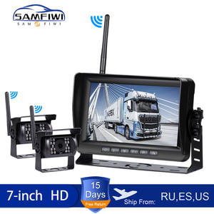 Recorder Car-Monitor Wifi-Camera Truck Night-Vision Wireless Parking-System Reverse-Backup