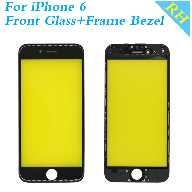 New Outer Glass For iPhone 6 LCD Front Touch Screen Glass Bezel + Frame Panel Digitizer Sensor Parts Phone Accessories image