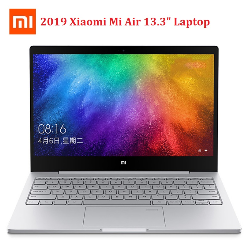 Xiaomi Mi Air 2019 13.3'' Laptop Windows 10 OS Intel Core I7-8550U 8GB RAM 256GB SSD Fingerprint Sensor Notebook 1.0MP Camera