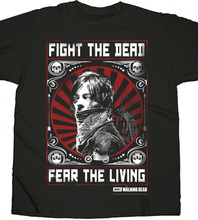 2019 Fashion Hot Daryl Dixon Fight Poster The Walking Dead Licensed Zombie Tee T-Shirt Tee Shirt Sweatshirts недорого