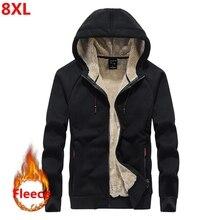 ฤดูใบไม้ร่วงและฤดูหนาวใหม่ของผู้ชาย hoodie PLUS ขนาดลำลองหลวมชายขนาดใหญ่ Plus กำมะหยี่ชายเสื้อ 8XL