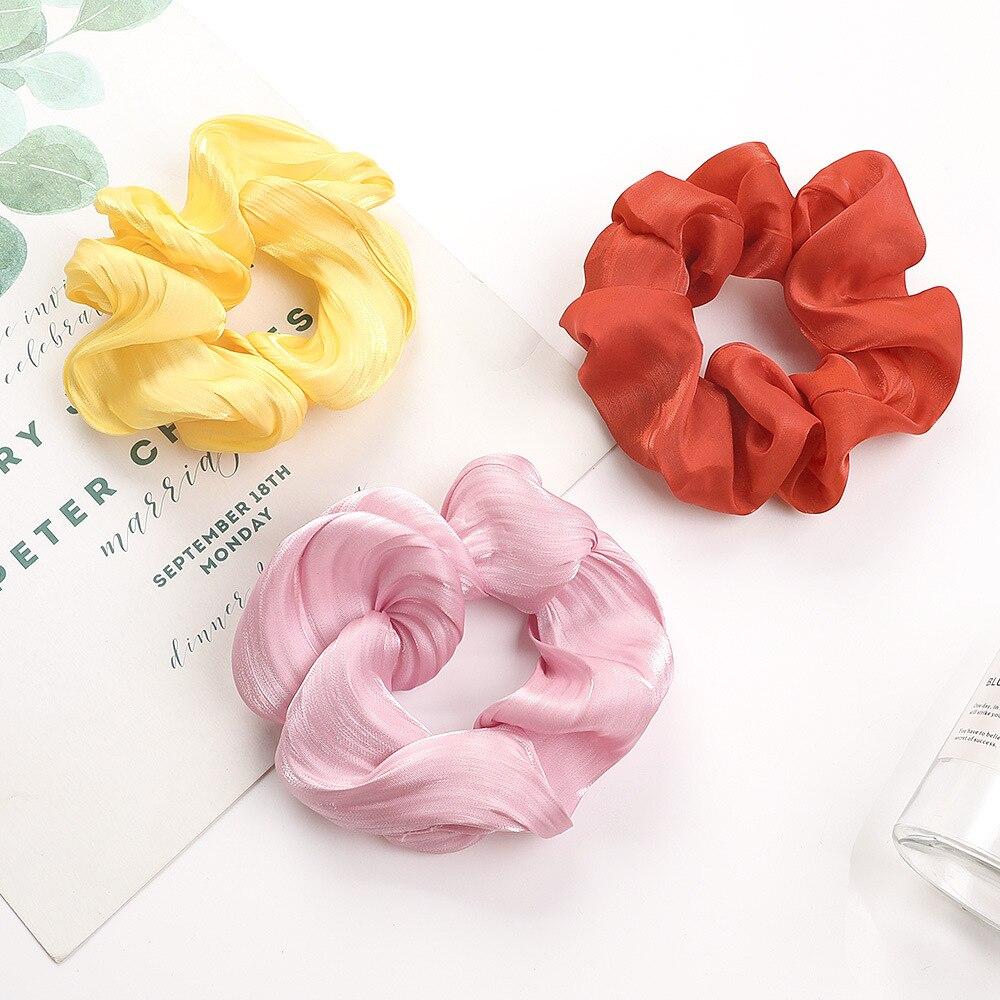 Summer Women Scrunchie Hair Tie Girls Hair Accessories Elastic Hair Bands Hair Rope Ring Ponytail Holder Handmade Heandband