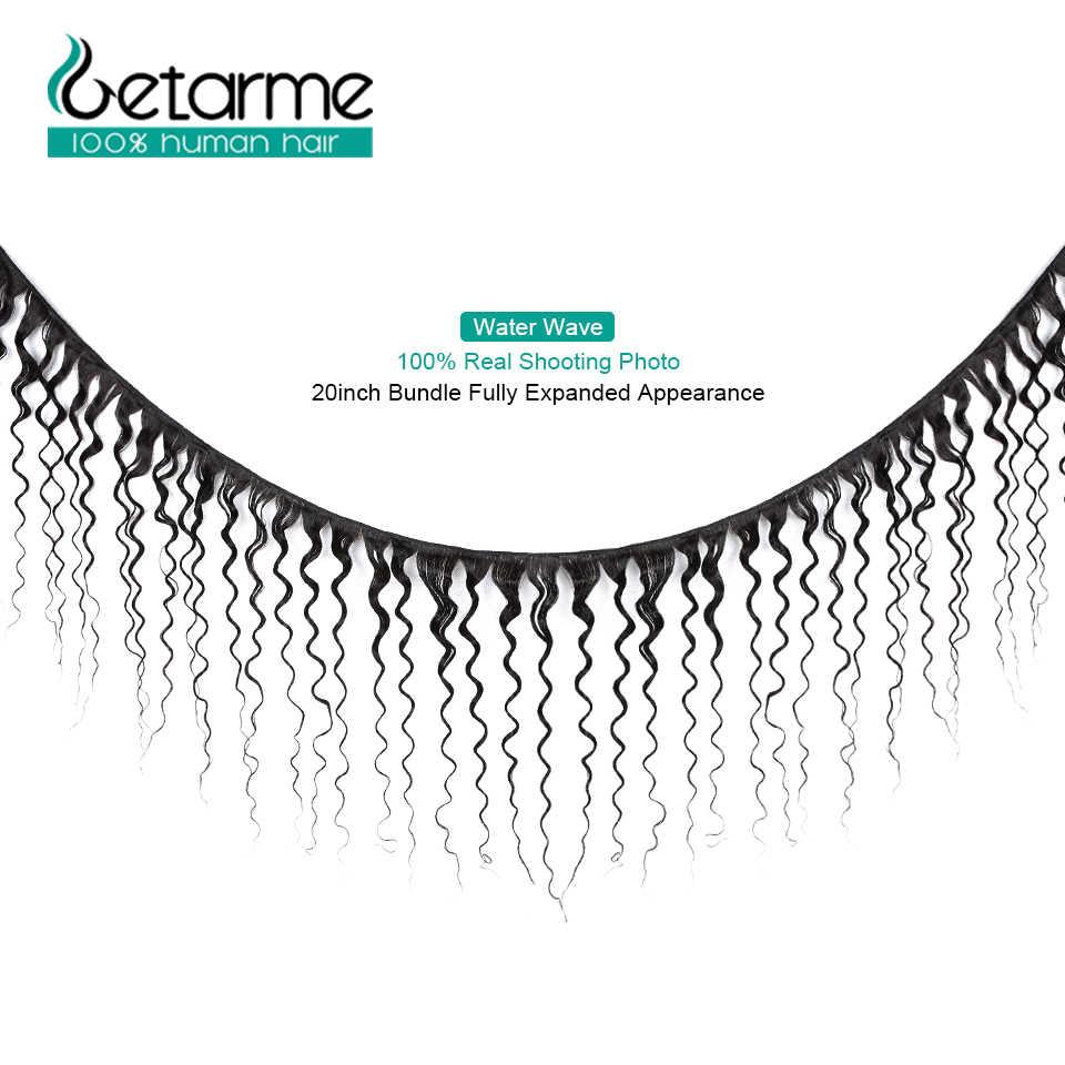 Getarme индийские водяные пучки волнистых волос 3 пучка человеческих волос Плетение Пучков Натуральные Цветные волосы Реми расширение
