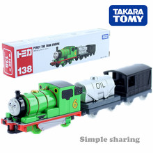 Takara Tomy-Tomy Tomica Long tipo núm. 138 TOMAS & FRIENDS, modelo de tren de motor de tanque, figuras fundidas, juguetes para niños