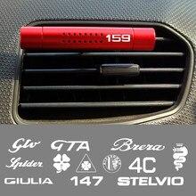 Ambientador de aire para coche, barras con Clip para aromaterapia, para Alfa Romeo, Giulia, Giulietta, 159, 156, MITO, Stelvio, 147, Sportiva, 4C, GTA