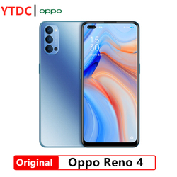 Original Official Oppo Reno 4 5G Smartphone Snapdragon 765G Octa Core 6.4inch 2400×1080P AMOLED 4000mAh 65W SupperVOOC 2.0 48MP