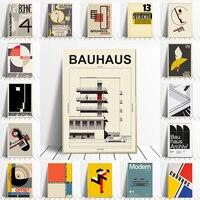 Bauhaus-Póster geométrico único, lienzo de arte minimalista, pintura abstracta, imagen de pared para decoración del hogar y sala de estar