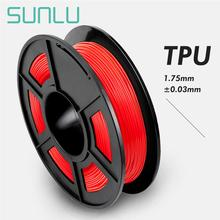 Red Color TPU Flexible Filament 0.5kg With Spool 1.75/3.00mm TPU Flexible Filament For 3D Printer Non-toxic 100% NO Bubble