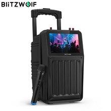 BlitzWolf BW-DM1 30W TFT Screen Wireless Party Karaoke Speaker with TFT Screen HiFi Sound, Wireless Microphone Multiple Ports