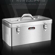 Portable Toolbox Iron Anti-fall Black Alloy Steel Organizer Hardware Toolbox Hard Case Caixa Ferramenta Household Items EK50TB