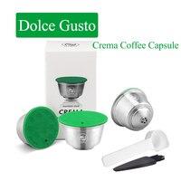 ICafilas wielokrotnego napełniania ze stali nierdzewnej Nescafe Capsula Reutilizavel Dolce Gusto kapsułki Dolci Gusto wielokrotnego użytku filtry do kawy łyżka w Filtry do kawy od Dom i ogród na