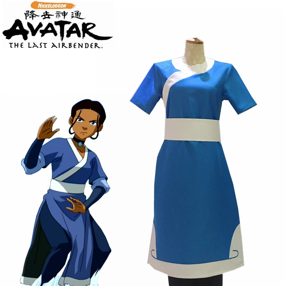 2019 Anime Avatar The Last Airbender Prince Korra Water Tribe Outfit Cosplay Costume Halloween Outfit Custom Cosplay Outfit